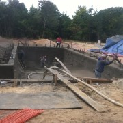 East Hampton gunite pool installation