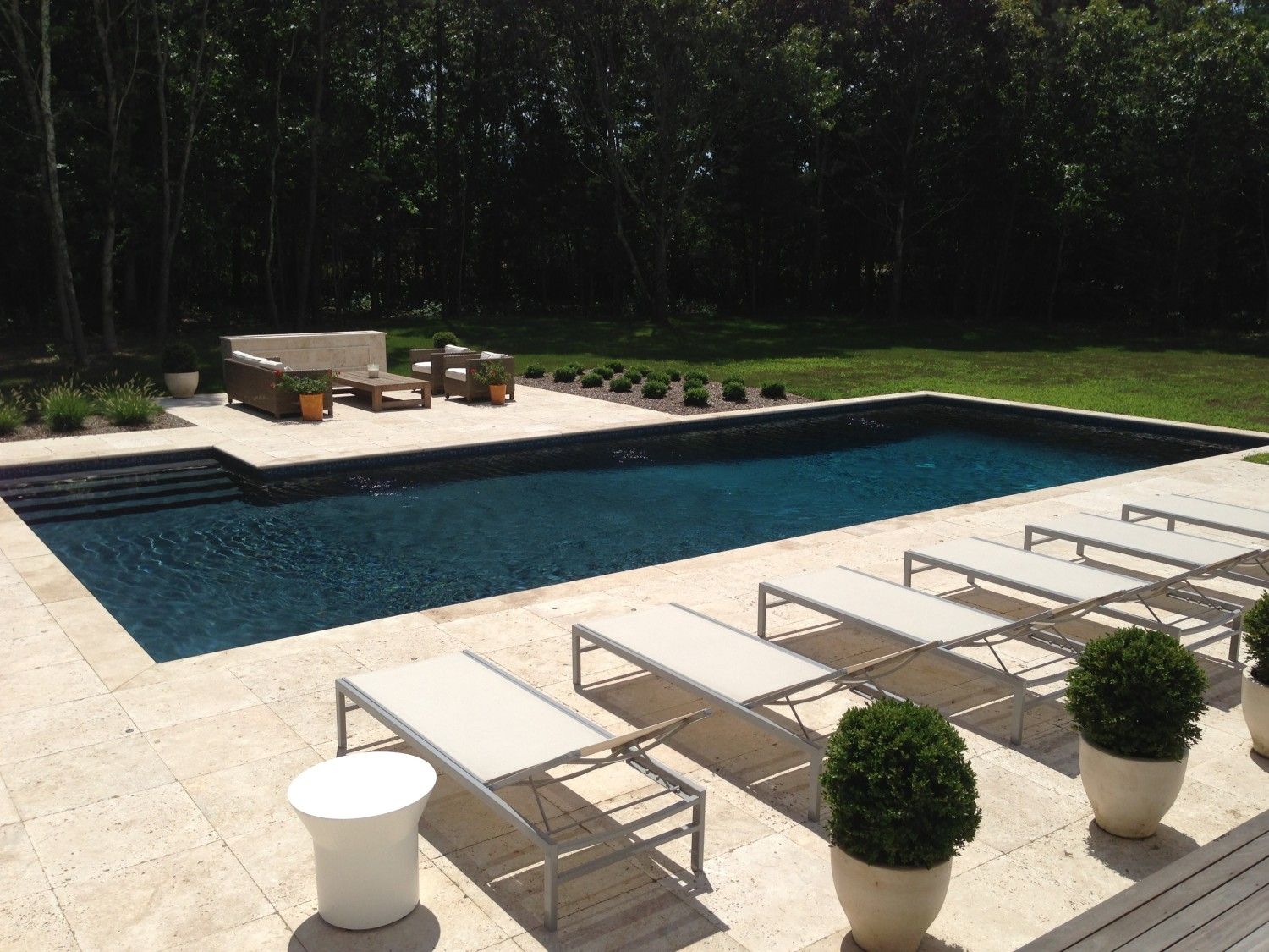 Saltwater gunite pool installation in suffolk county for Pool installation