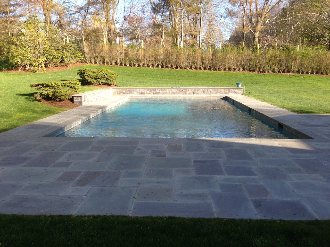 East Hampton Gunite Pool Stone Patio Amp Retaining Wall