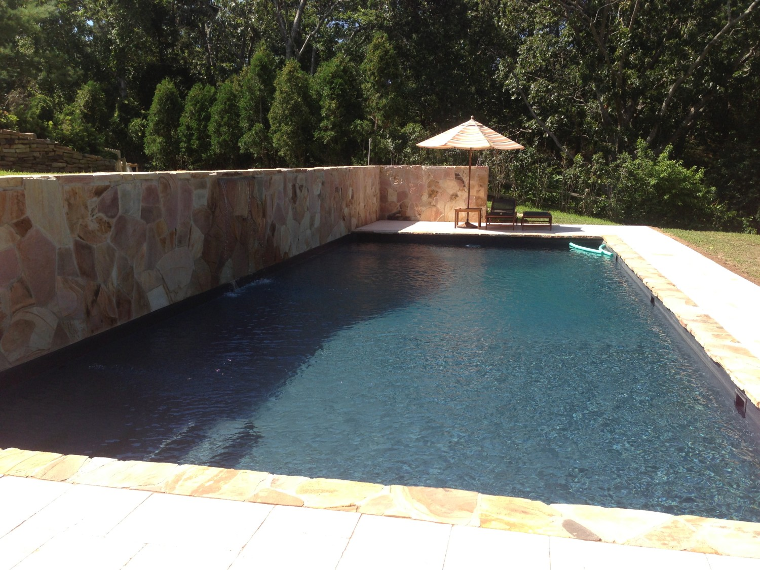 Pool With Retaining Wall On Cliff In Southampton