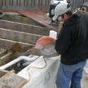 Adding a new gunite skimmer to this old spa Patricks Pools