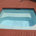 """Gunite spa renovation with its fresh new marbledust and all new """"everything"""" Patricks Pools"""