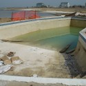 Dune road Westhampton Beach Patricks Pools Gunite. This pool had been sitting abandoned for a number of years before we started our renovation
