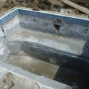 """Patricks Pools Westhampton Spa renovation marbledust new tile new jets """"before picture"""""""