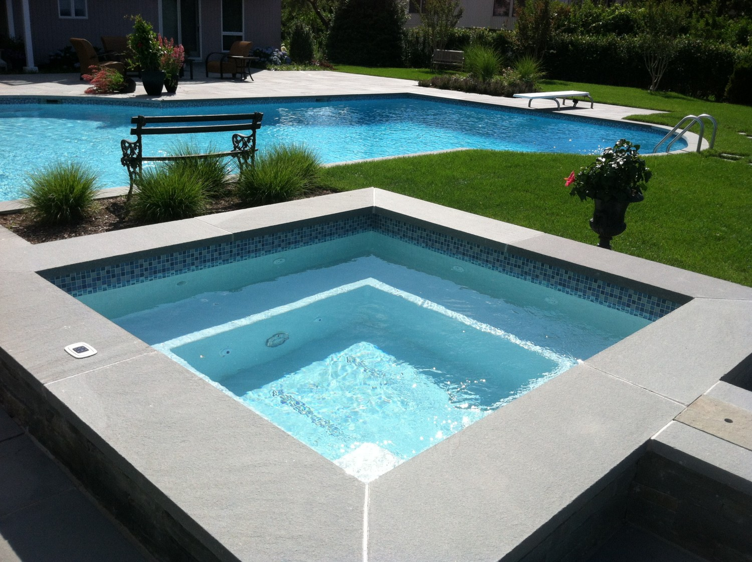 Patio Pool Renovation Spa Addition In Port Jeff Harbor