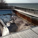 Hurricane pool damage