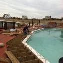 new skimmer installation on old gunite pool Patricks Pools Westhampton Beach