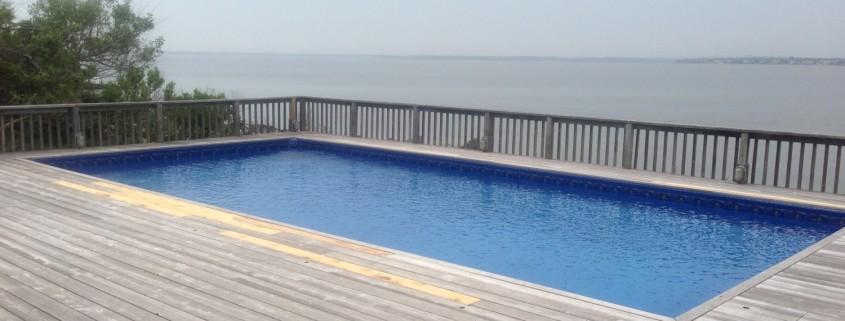 Pool repair vinyl liner renovation
