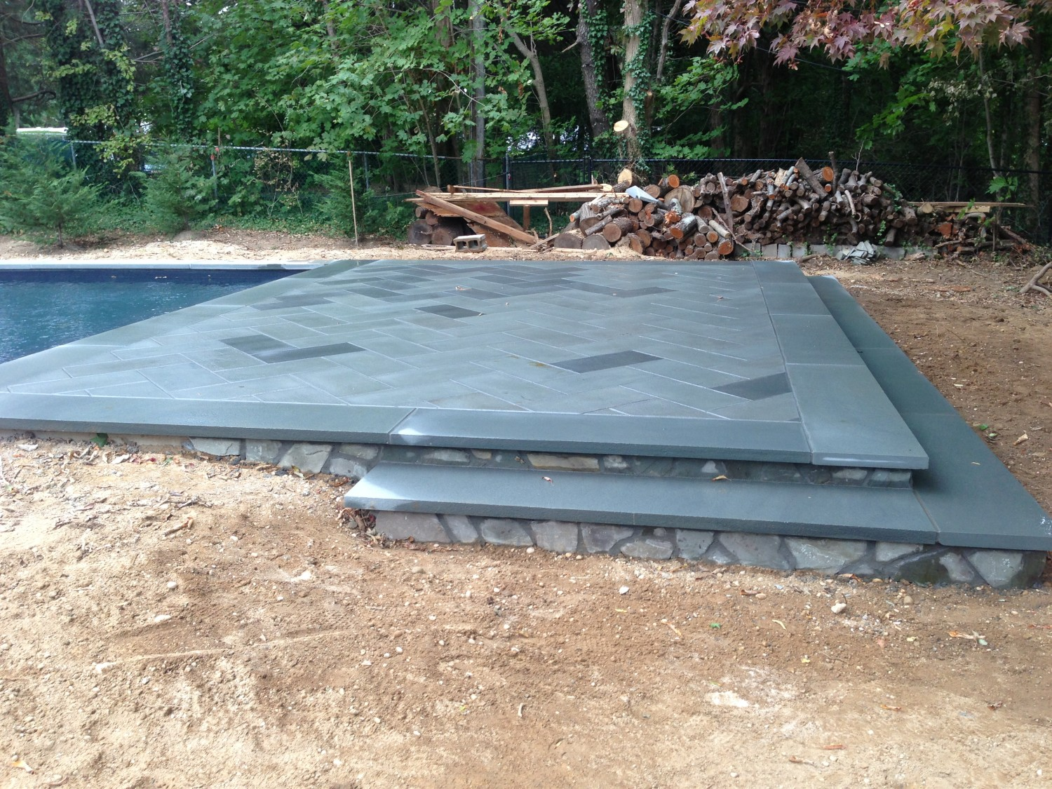 Long Island Pool Amp Bluestone Patio Installation Step By