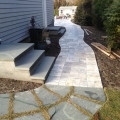 Travertine / tumbled marble suffolk county installation