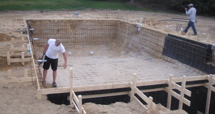 Suffolk County Gunite pool framing and rebar Patrick's Pools
