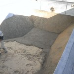 Patricks Pools vermiculite pool base beneath pool liner