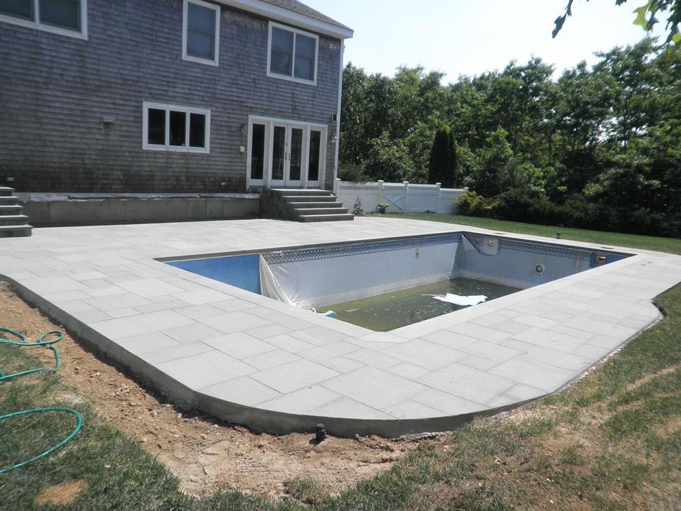 Bluestone Patio Amp Pool Renovation In East Quogue