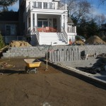 retaining wall block Patricks Pools southampton construction
