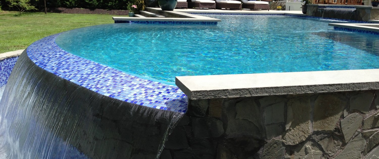 Patricks Pools built this gunite pool in Southampton