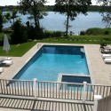 Patricks Pools gunite pool spa and bluestone patio