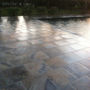 Porcelain tile patio in Westhampton