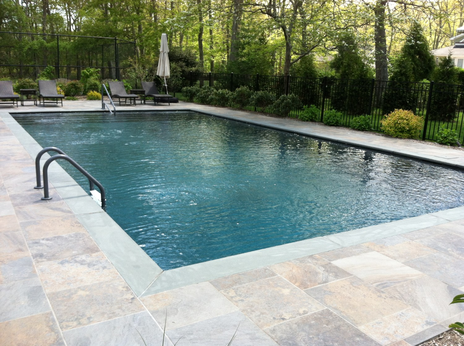 westhampton 20 40 gunite pool patio installation