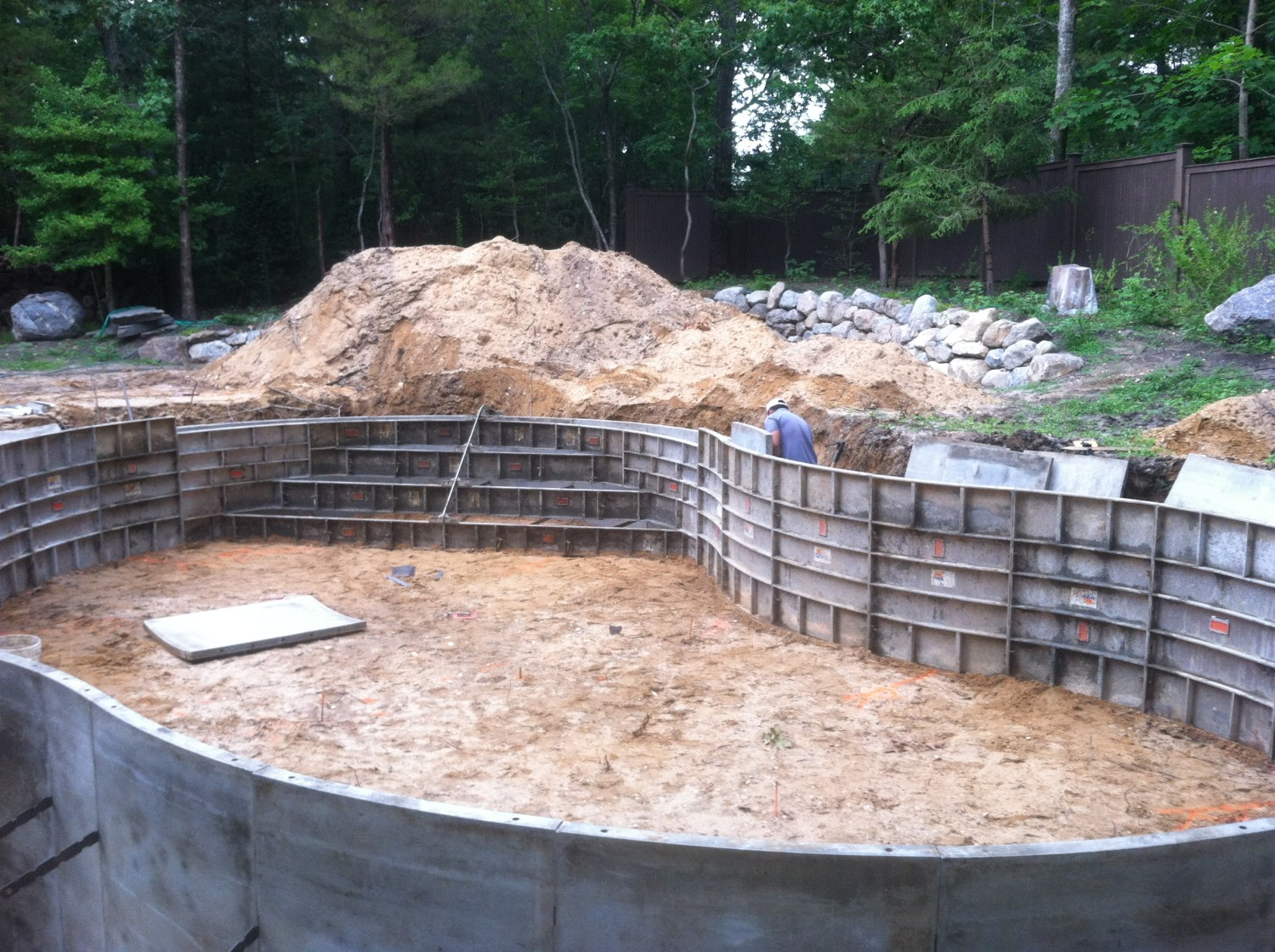 pool installation concrete forms