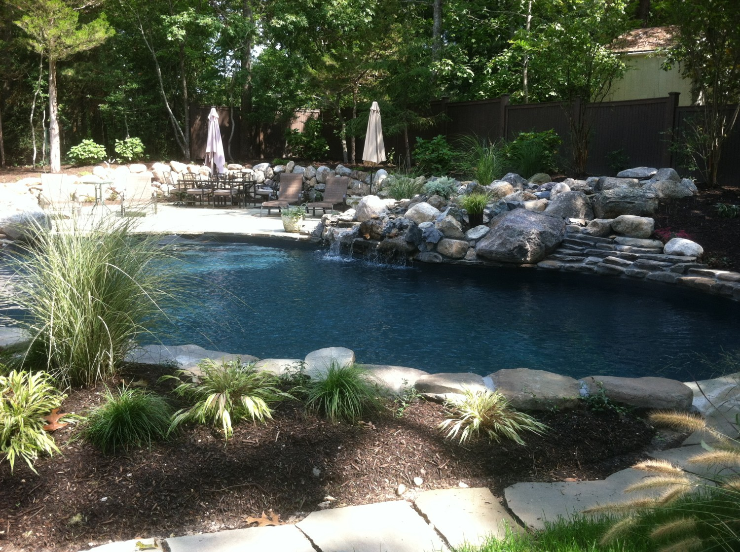 mountain lake pool installation
