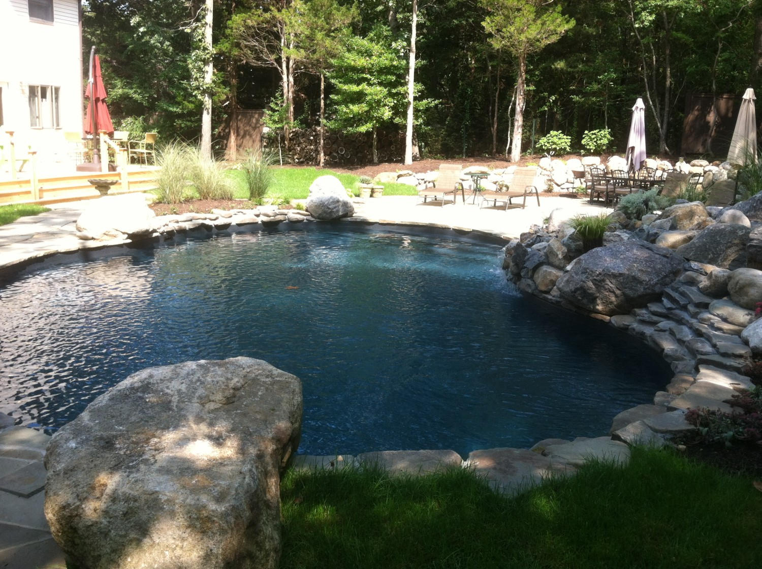 Freeform Vinyl Pool On North Fork In Southold Patricks
