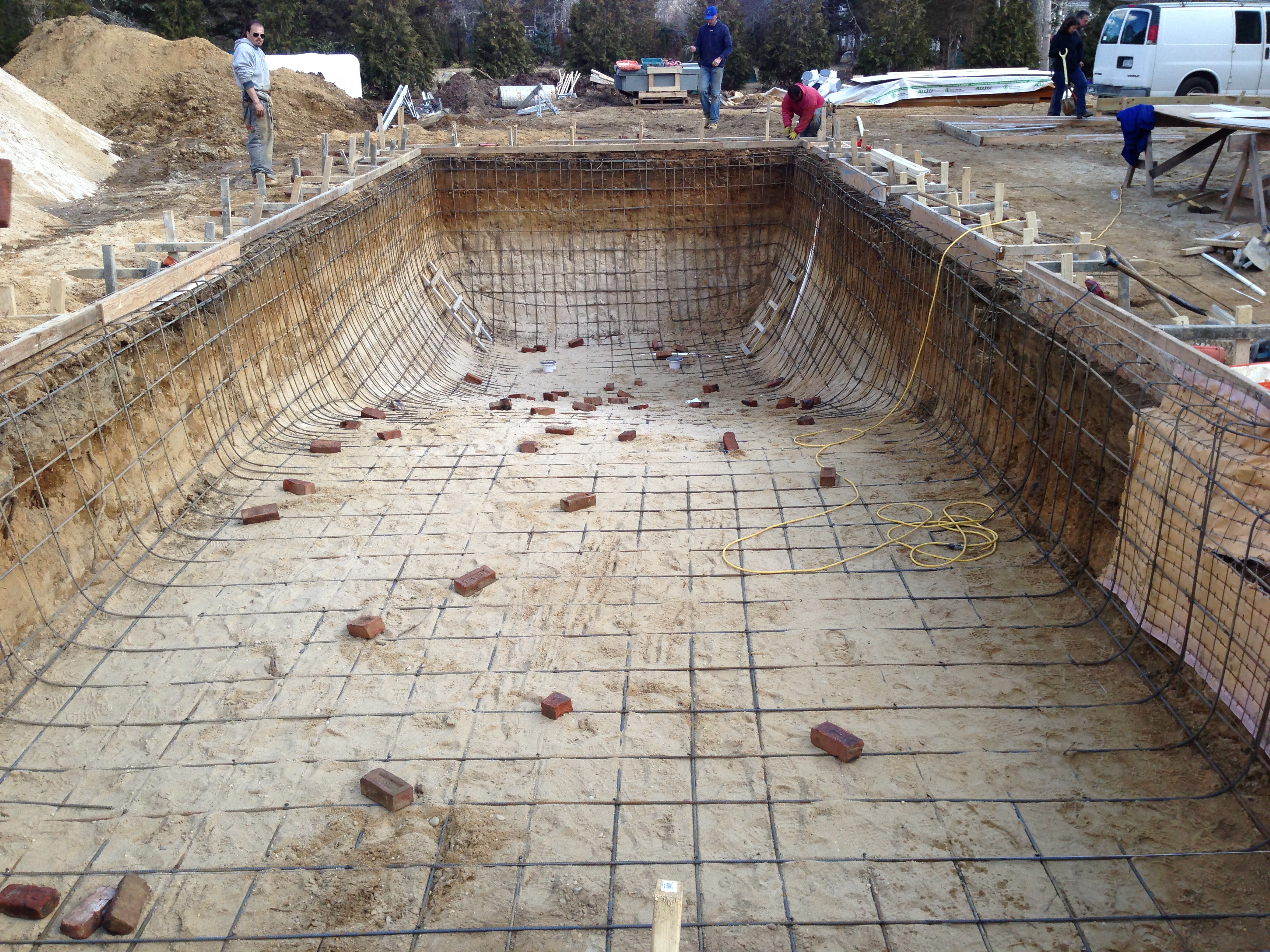 50 gunite lap pool installation quogue ny patricks for Pool construction
