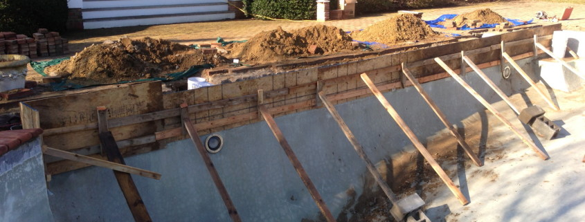 gunite wall forms Southampton