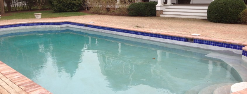 Gunite pool marbledust, coping, and tile