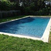 Water Mill gunite pool with auto cover