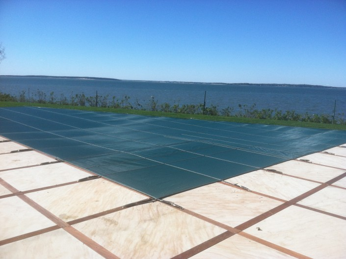 Winter Months - Patricks Pools Installed Loop Loc safety pool cover in Southampton, Long Island