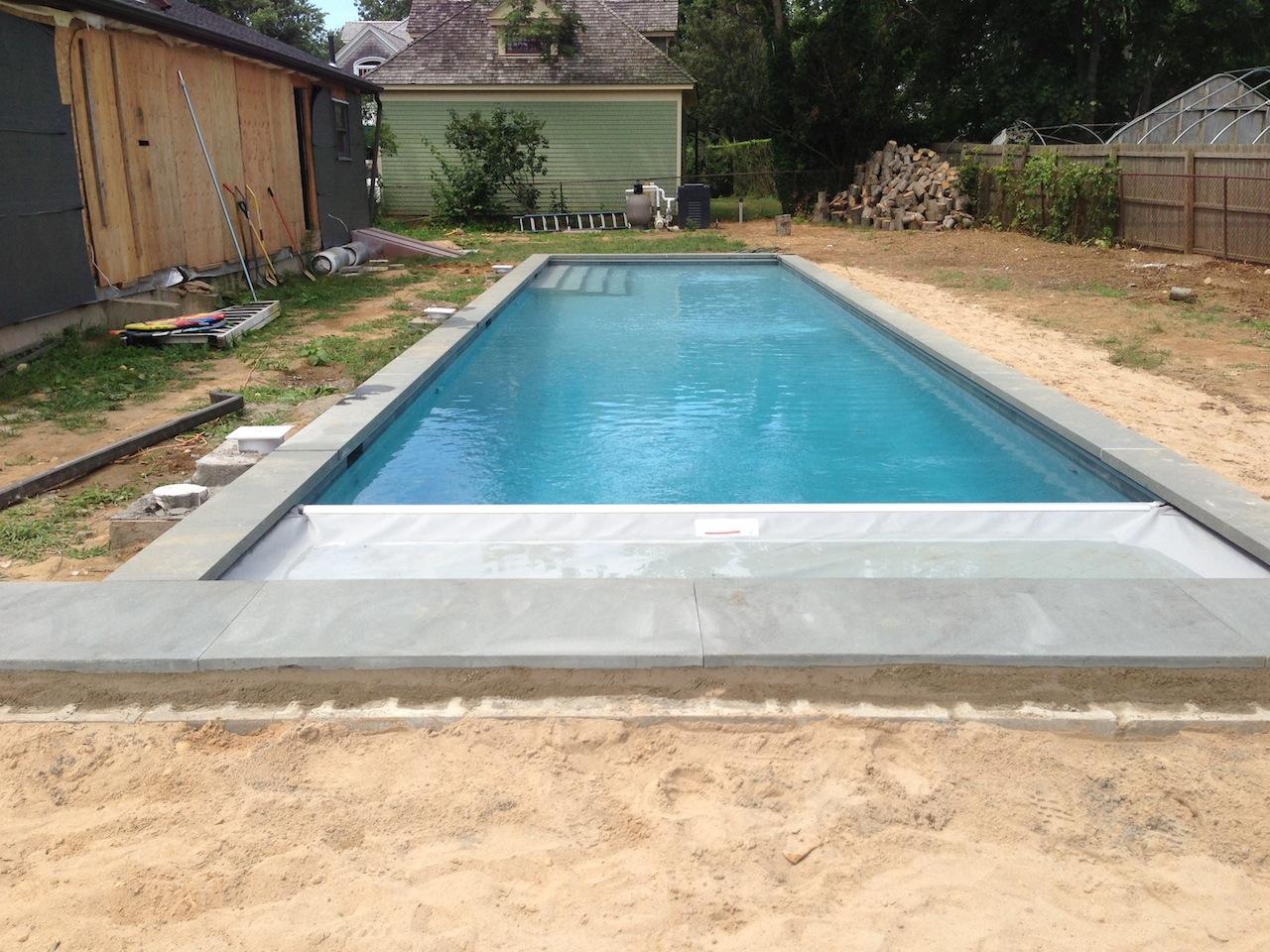 Gunite Lap Pool Installation