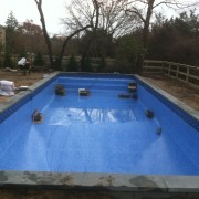 pool liner install