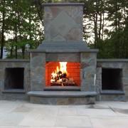 outdoor chimney masonry Pool