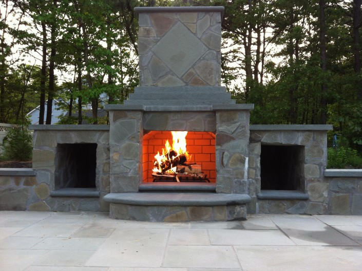 outdoor chimney masonry Pool