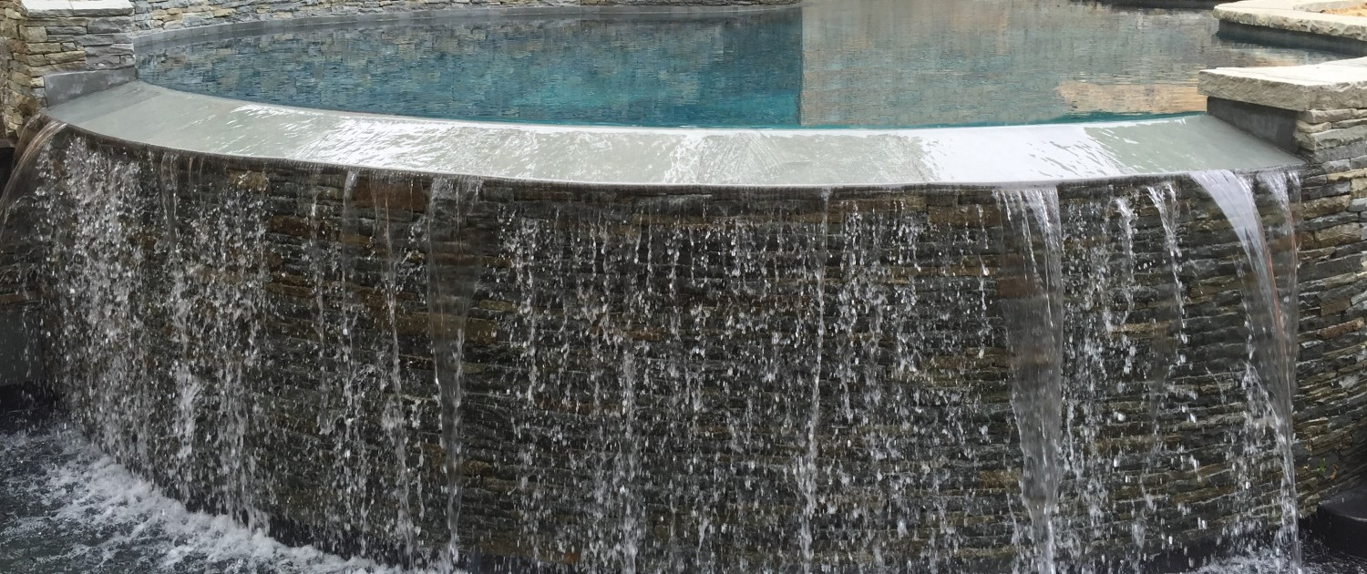 waterfall pool negative edge pool