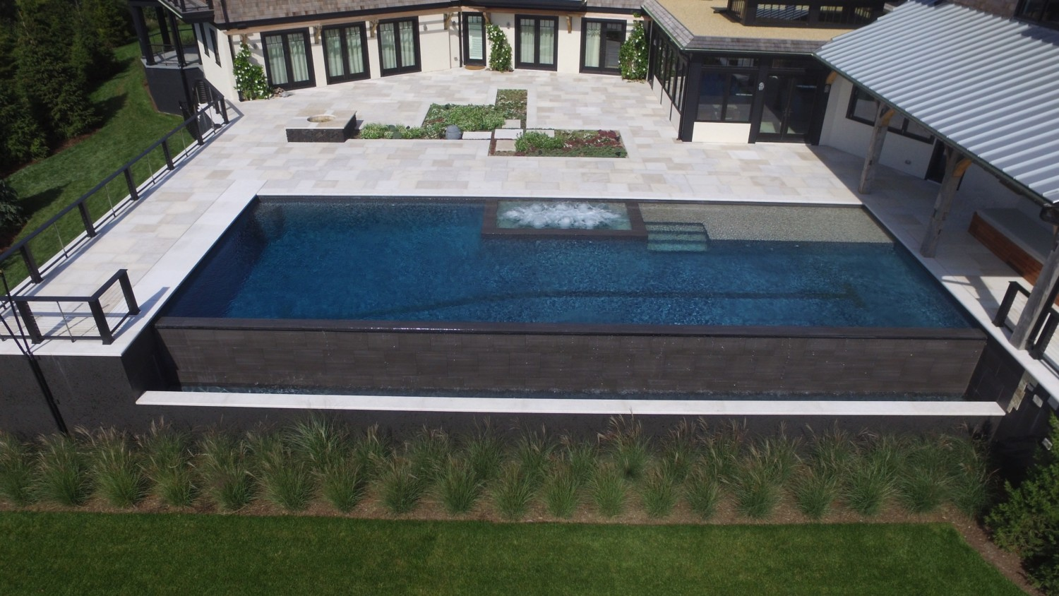 Waterfront Negative Edge Pool In Westhampton Beach