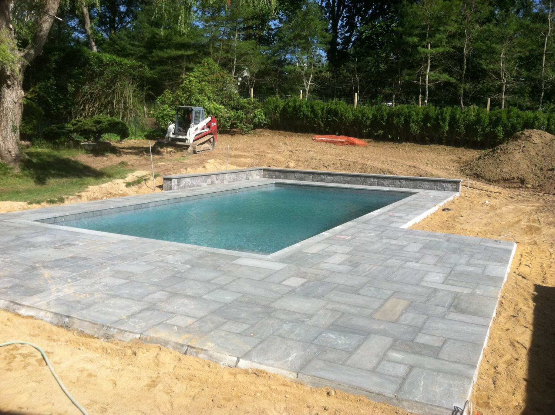 East Hampton Gunite Pool Stone Patio Amp Retaining Wall