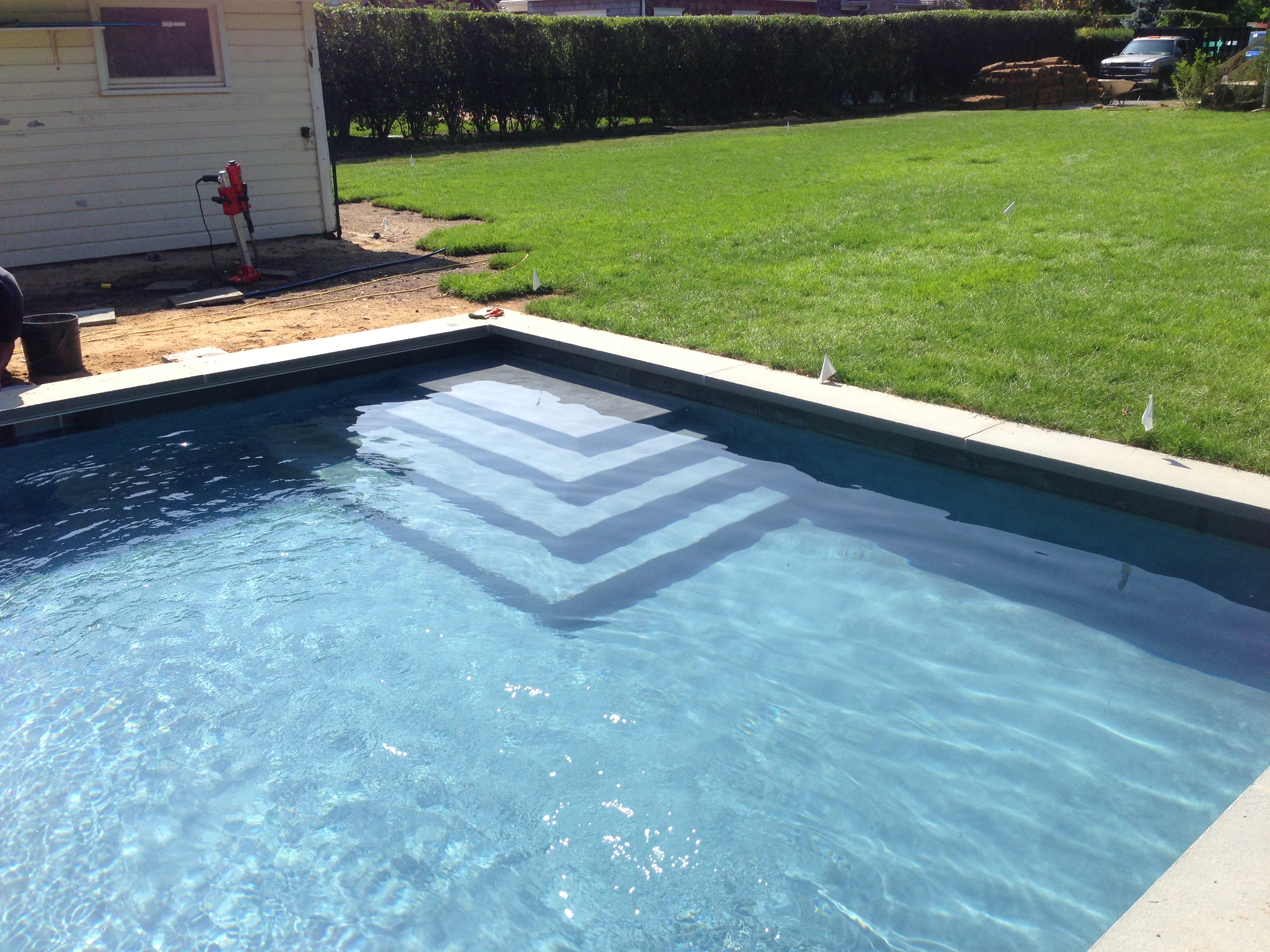Water Mill Pool Installation Amp Automatic Cover Patricks