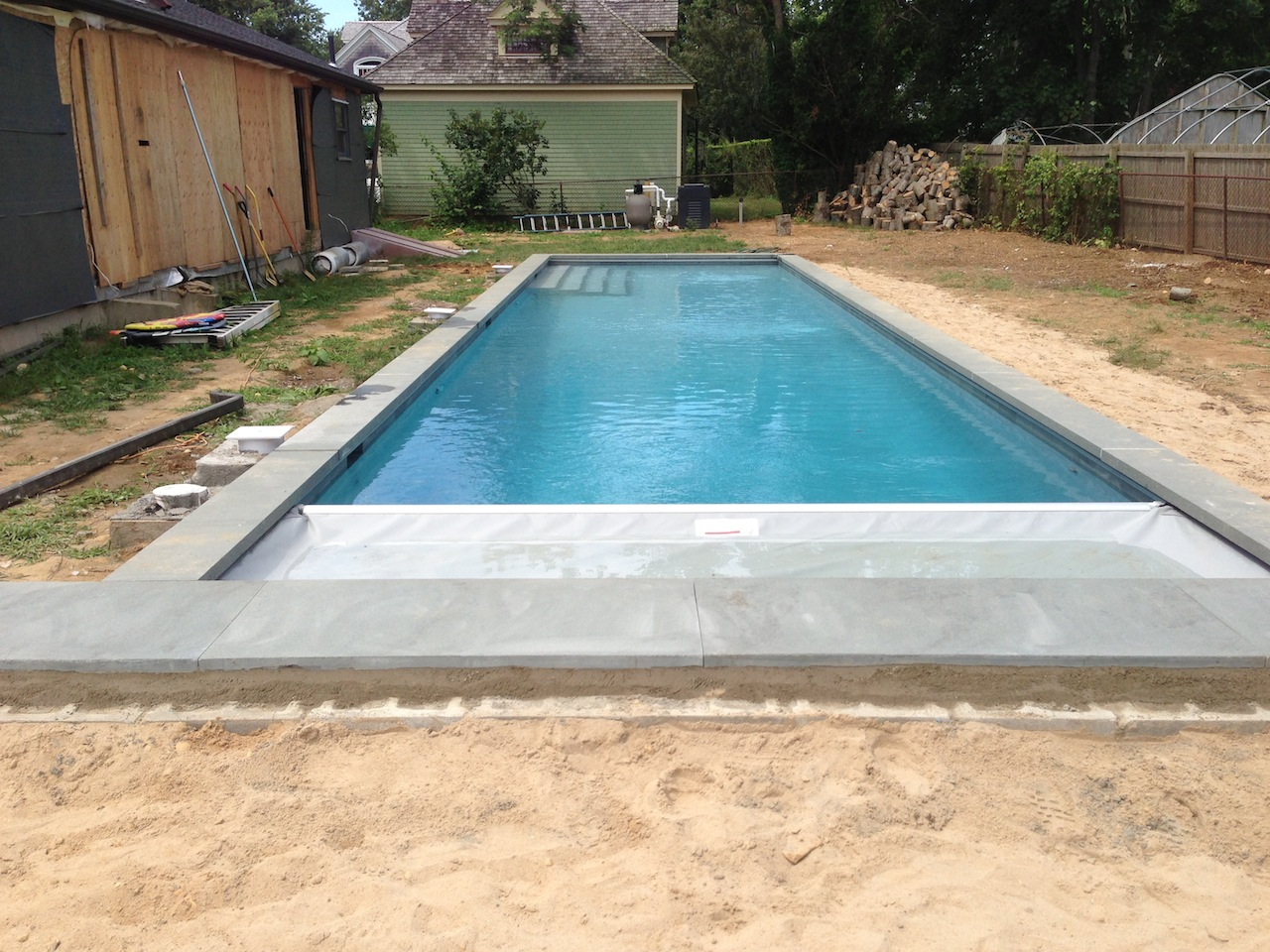 Northfork Orient Point Gunite Lap Pool Installation