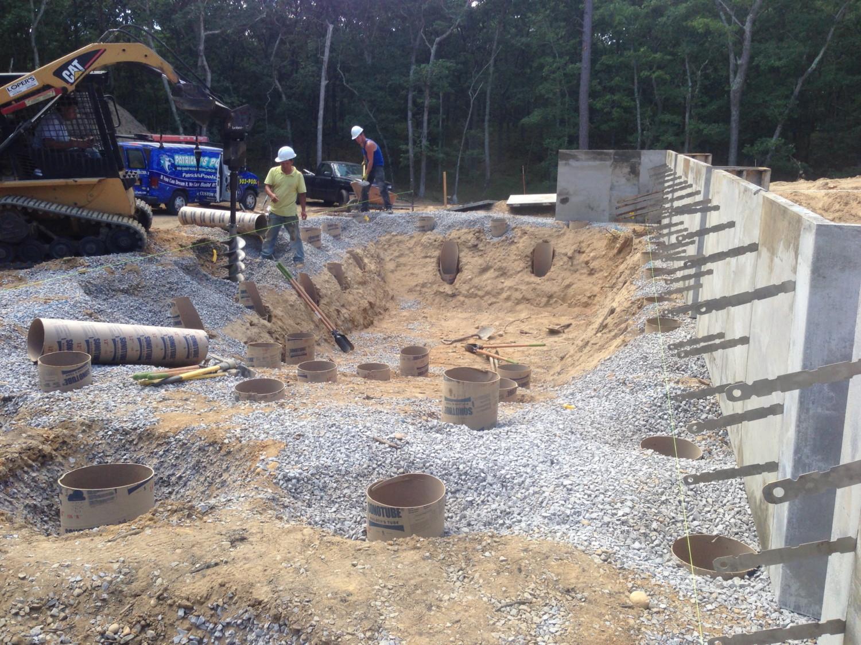 Gunite Pool Atop Concrete Supports In Mattituck